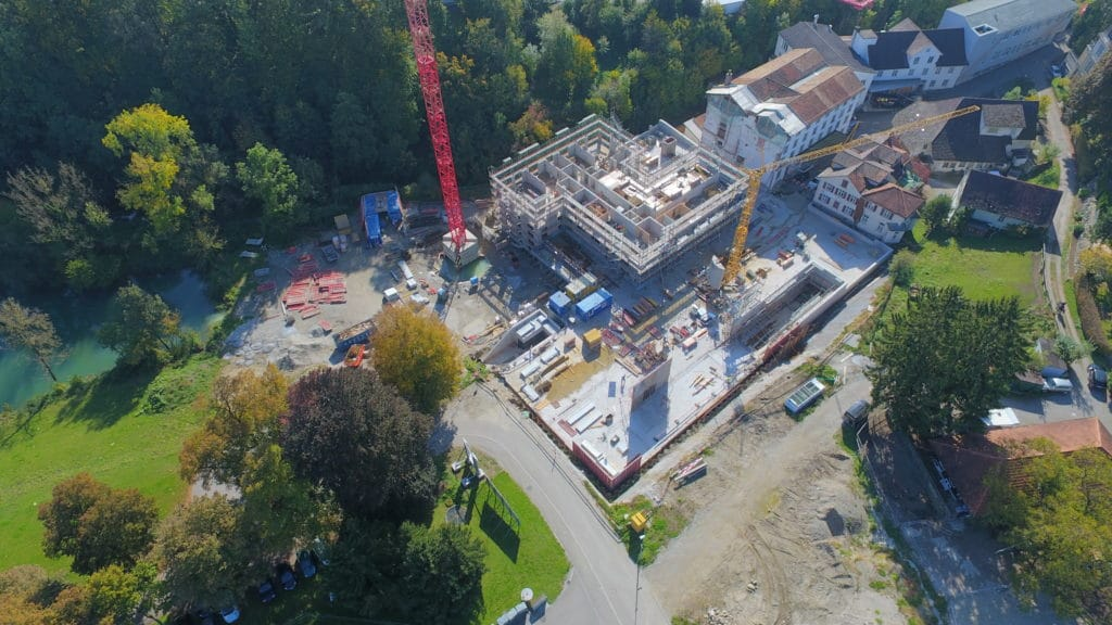 Drohnenbild Mühle Rickenbach