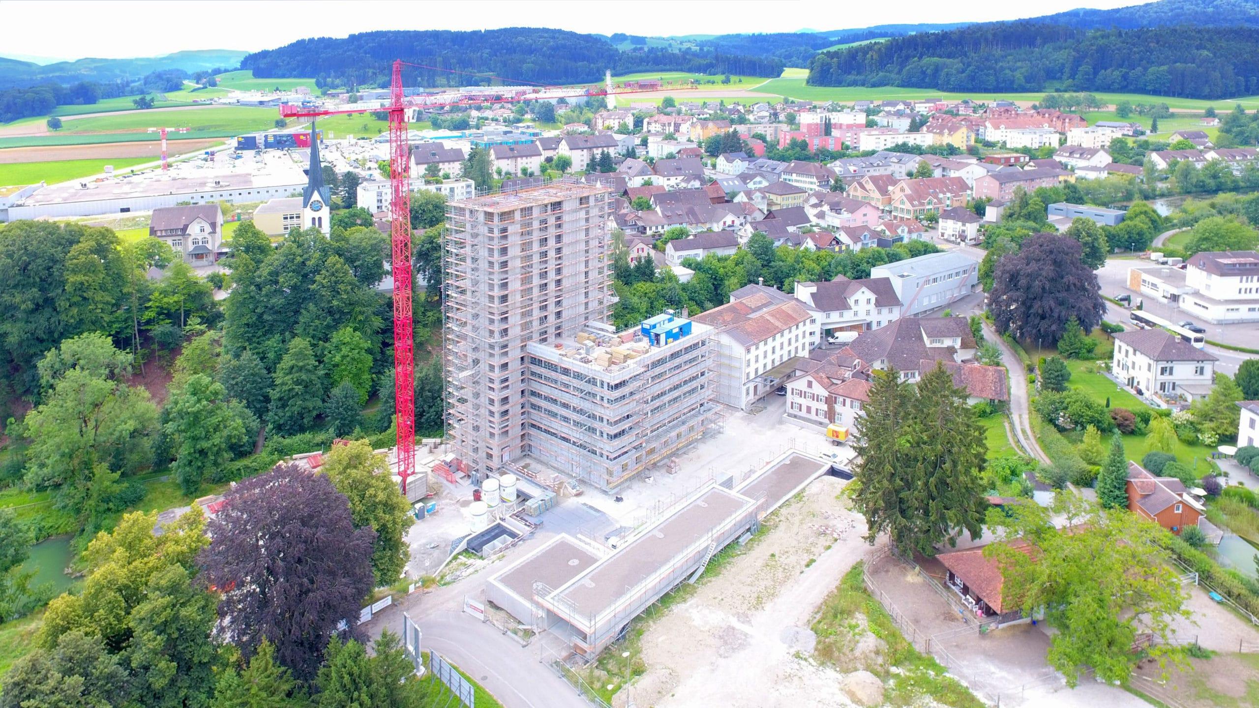 20200721 Baufortschritt Mühle Rickenbach